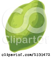 Clipart Of A Lime Royalty Free Vector Illustration