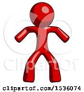 Red Design Mascot Male Sumo Wrestling Power Pose
