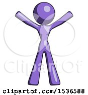 Purple Design Mascot Woman Surprise Pose Arms And Legs Out