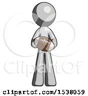 Gray Design Mascot Man Giving Football To You