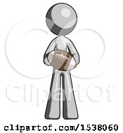 Gray Design Mascot Woman Giving Football To You