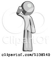 Gray Design Mascot Man Soldier Salute Pose