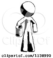 Ink Design Mascot Man Begger Holding Can Begging Or Asking For Charity