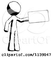 Ink Design Mascot Man Holding Large Envelope