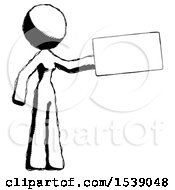 Ink Design Mascot Woman Holding Large Envelope