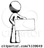 Ink Design Mascot Man Presenting Large Envelope