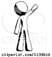 Ink Design Mascot Man Waving Emphatically With Left Arm