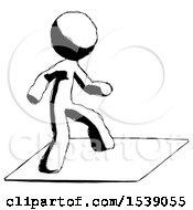 Ink Design Mascot Man On Postage Envelope Surfing
