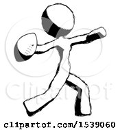 Ink Design Mascot Woman Throwing Football