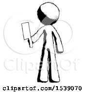 Ink Design Mascot Man Holding Meat Cleaver