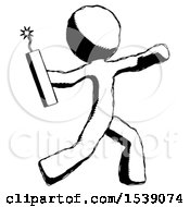 Ink Design Mascot Man Throwing Dynamite