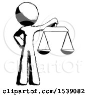 Ink Design Mascot Man Holding Scales Of Justice