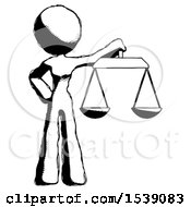 Ink Design Mascot Woman Holding Scales Of Justice