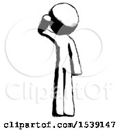 Ink Design Mascot Man Soldier Salute Pose