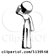 Ink Design Mascot Woman Soldier Salute Pose