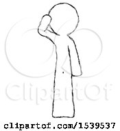 Sketch Design Mascot Man Soldier Salute Pose