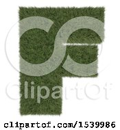 Clipart Of A 3d Grassy Capital Letter F On A White Background Royalty Free Illustration