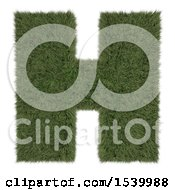 Clipart Of A 3d Grassy Capital Letter H On A White Background Royalty Free Illustration