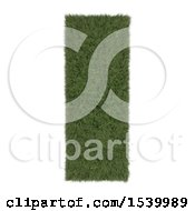 Clipart Of A 3d Grassy Capital Letter I On A White Background Royalty Free Illustration
