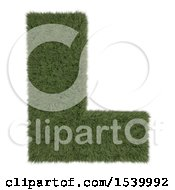 Clipart Of A 3d Grassy Capital Letter L On A White Background Royalty Free Illustration