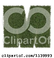 Clipart Of A 3d Grassy Capital Letter M On A White Background Royalty Free Illustration