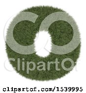 Clipart Of A 3d Grassy Capital Letter O On A White Background Royalty Free Illustration