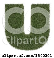 Clipart Of A 3d Grassy Capital Letter U On A White Background Royalty Free Illustration