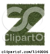 Clipart Of A 3d Grassy Capital Letter Z On A White Background Royalty Free Illustration