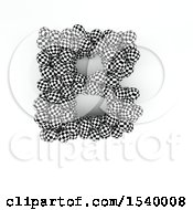 Clipart Of A 3d Checkered Sphere Patterned Capital Letter B On A White Background Royalty Free Illustration