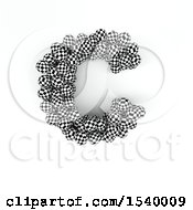 Clipart Of A 3d Checkered Sphere Patterned Capital Letter C On A White Background Royalty Free Illustration
