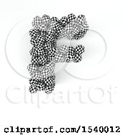 Clipart Of A 3d Checkered Sphere Patterned Capital Letter F On A White Background Royalty Free Illustration