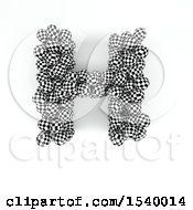 Clipart Of A 3d Checkered Sphere Patterned Capital Letter H On A White Background Royalty Free Illustration