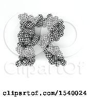 Clipart Of A 3d Checkered Sphere Patterned Capital Letter R On A White Background Royalty Free Illustration