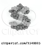 Clipart Of A 3d Checkered Sphere Patterned Capital Letter S On A White Background Royalty Free Illustration