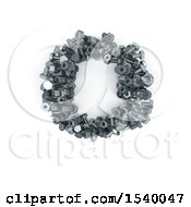 Clipart Of A 3d Nuts And Bolts Capital Letter O On A White Background Royalty Free Illustration