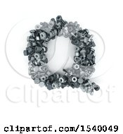Clipart Of A 3d Nuts And Bolts Capital Letter Q On A White Background Royalty Free Illustration