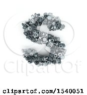 Clipart Of A 3d Nuts And Bolts Capital Letter S On A White Background Royalty Free Illustration