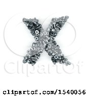 Clipart Of A 3d Nuts And Bolts Capital Letter X On A White Background Royalty Free Illustration