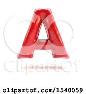 Clipart Of A 3d Red Balloon Capital Letter A On A White Background Royalty Free Illustration