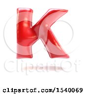 Clipart Of A 3d Red Balloon Capital Letter K On A White Background Royalty Free Illustration