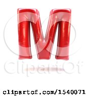 Clipart Of A 3d Red Balloon Capital Letter M On A White Background Royalty Free Illustration