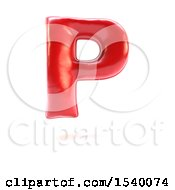 Clipart Of A 3d Red Balloon Capital Letter P On A White Background Royalty Free Illustration