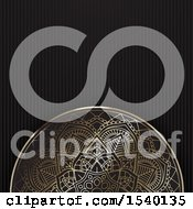 Poster, Art Print Of Golden Mandala And Black Background