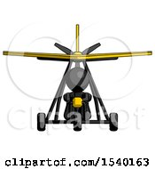 Black Design Mascot Man In Ultralight Aircraft Front View by Leo Blanchette