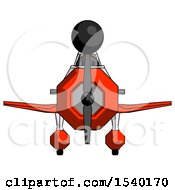 Black Design Mascot Woman In Geebee Stunt Plane Front View