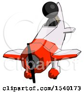 Black Design Mascot Man In Geebee Stunt Plane Descending Front Angle View by Leo Blanchette