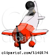 Black Design Mascot Woman In Geebee Stunt Plane Descending Front Angle View by Leo Blanchette