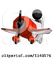 Black Design Mascot Woman Flying In Geebee Stunt Plane Viewed From Below by Leo Blanchette