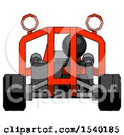 Black Design Mascot Man Riding Sports Buggy Front View by Leo Blanchette