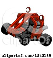 Black Design Mascot Man Riding Sports Buggy Side Top Angle View by Leo Blanchette